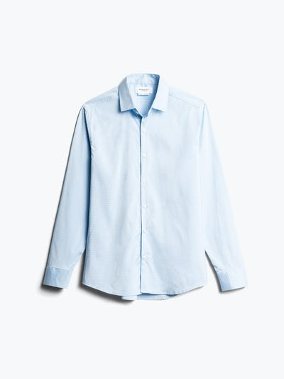 Men's Sky Blue End on End Aero Dress Shirt Front