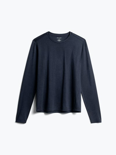 Men's Navy Composite Merino Long Sleeve Tee Front