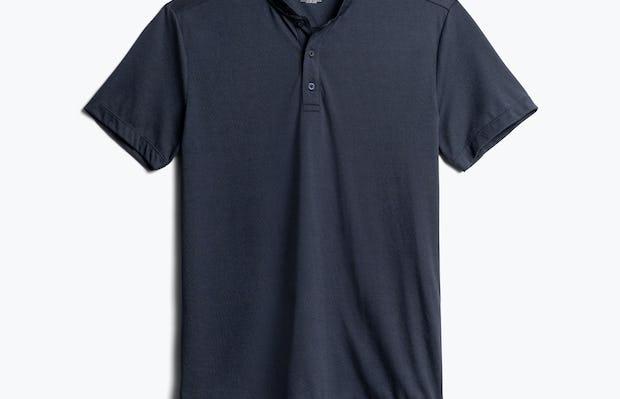 Men's Navy Composite Merino Short Sleeve Henley Front