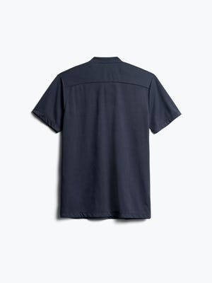 Men's Navy Composite Merino Short Sleeve Henley Back