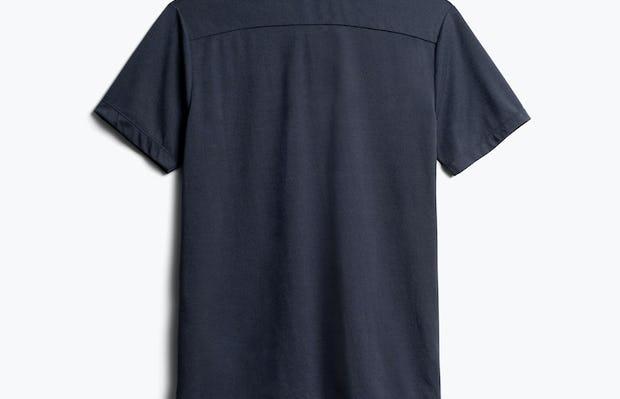 Men's Navy Composite Merino Short Sleeve Henley Back