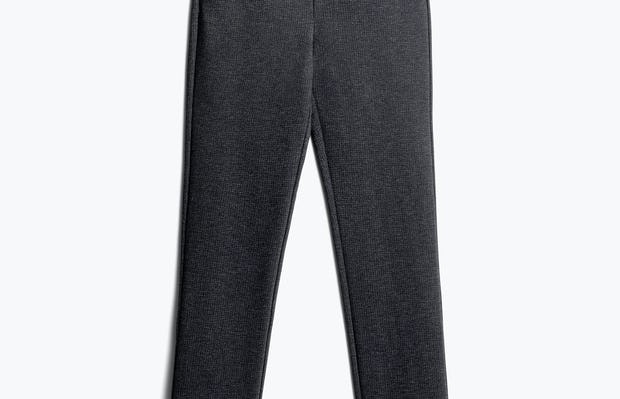 Women's Grey Heather Houndstooth Fusion Straight Leg Pant Front
