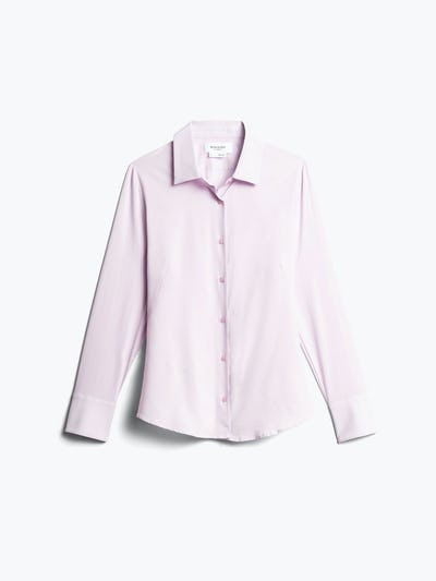 Women's Pale Pink Juno Recycled Tailored Dress Shirt Front