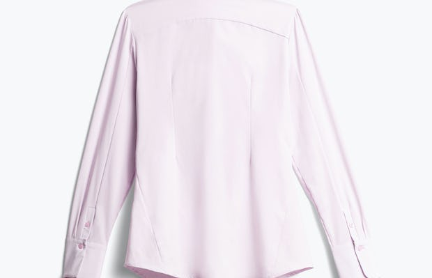 Women's Pale Pink Juno Recycled Tailored Dress Shirt Back