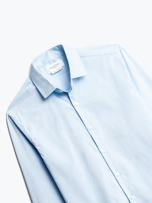 Close up of Men's Sky Blue End on End Aero Dress Shirt Front