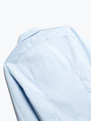 Close up of Men's Sky Blue End on End Aero Dress Shirt Back