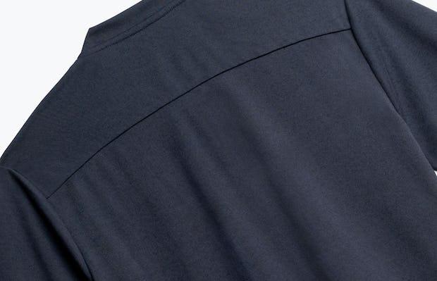 Close up of Men's Navy Composite Short Sleeve Henley Back