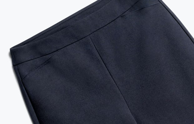 Close up of Women's Navy Fusion Straight Leg Pant Front