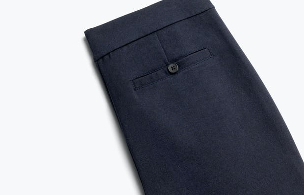 Close up of Women's Navy Fusion Straight Leg Pant Back