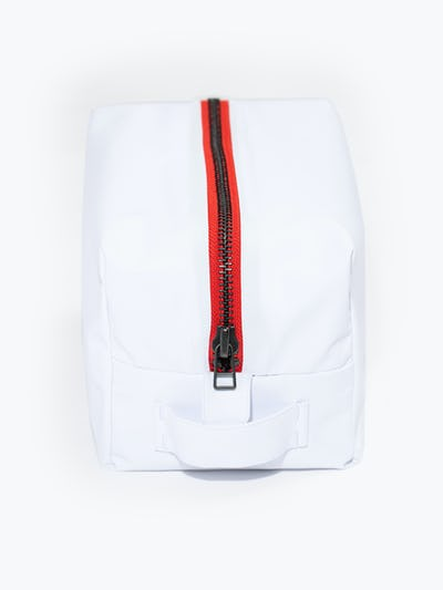 doppler essentials kit white red zipper shot of front showing zipper