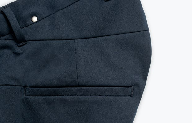 Close up of Men's Navy Kinetic Adaptive Pants Side