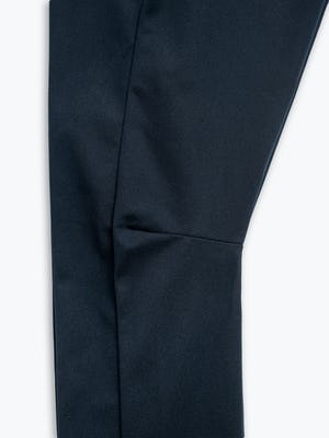 Close up of Men's Navy Kinetic Adaptive Pants knee