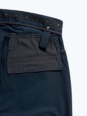 Close up of Men's Navy Kinetic Adaptive Pants interior grab hold