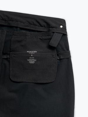 Women's Black Kinetic Adaptive Pants interior grab hold