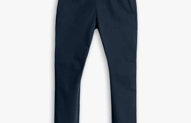 Women's Navy Kinetic Adaptive Pants flat shot of front