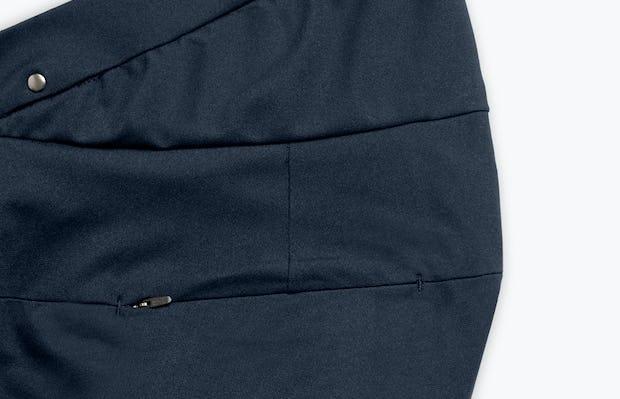 Close Up of Women's Navy Kinetic Adaptive Pants waist