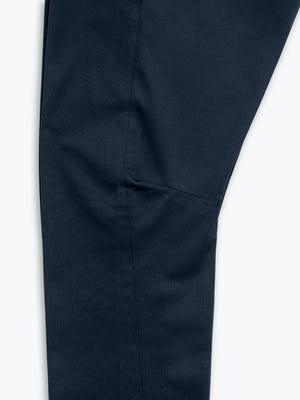 Close Up of Women's Navy Kinetic Adaptive Pants knee dart