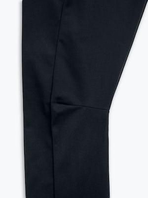 Close Up of Men's Black Kinetic Adaptive Pants Knee
