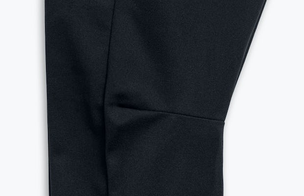 Close Up of Men's Black Kinetic Adaptive Pants Knee