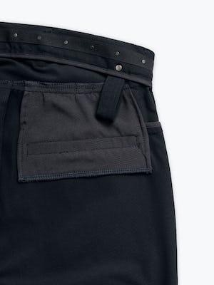 Close up of Men's Black Kinetic Adaptive Pants interior grab hold