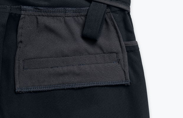 Close up of Men's Black Kinetic Adaptive Pants interior grab hold
