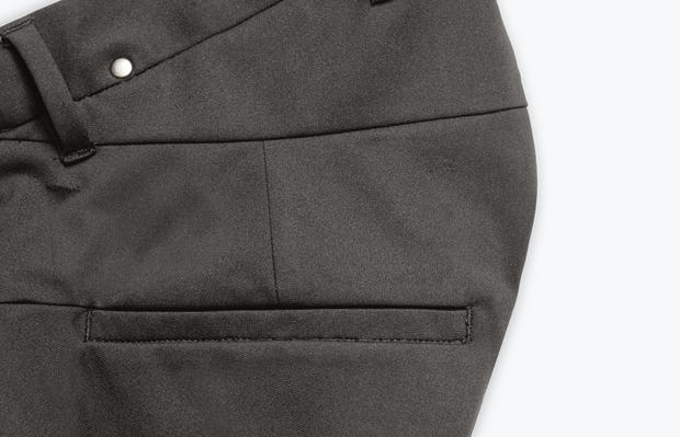 Close Up of Men's Charcoal Heather Kinetic Adaptive Pants Side