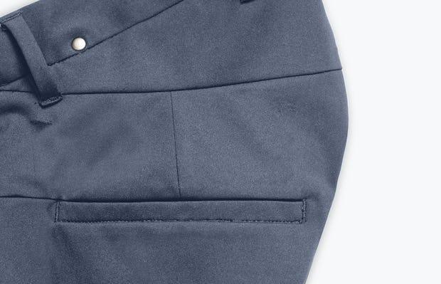 Close Up of Men's Indigo Heather Kinetic Adaptive Pants Side