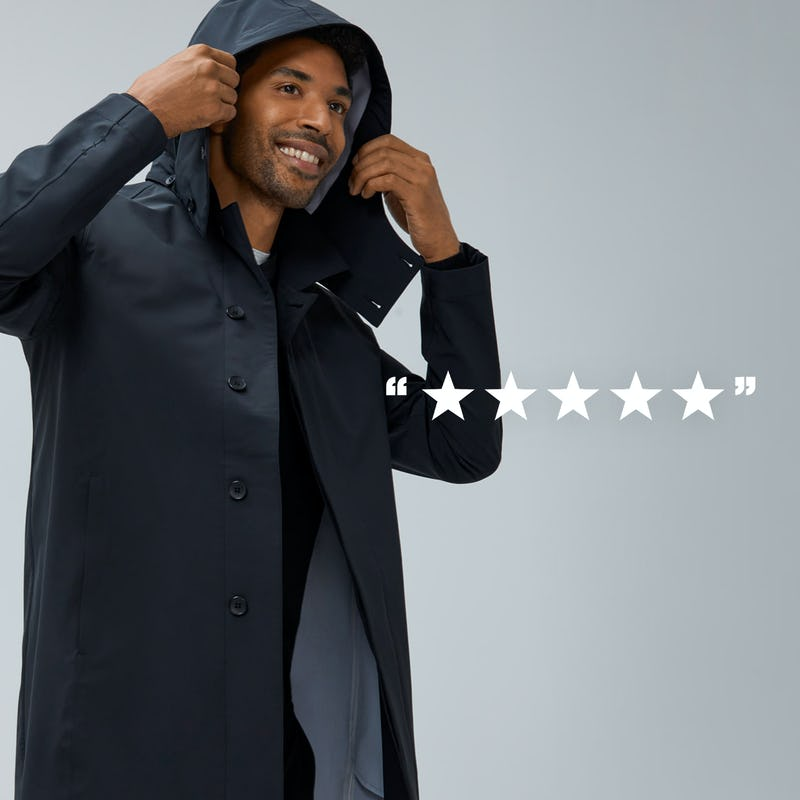 Close-Up of Man wearing Doppler Mac with 5 Stars Overlayed on him