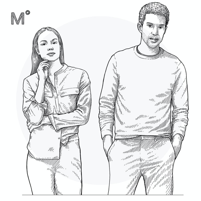 Illustration of Man and Woman Close Up