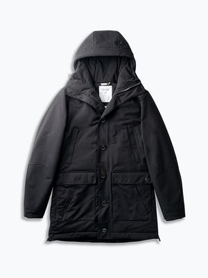 great auk down-less parka flat shot of front zipped