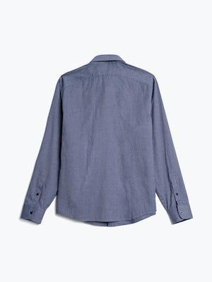 Men's indigo heather gingham aero button down flat shot of back