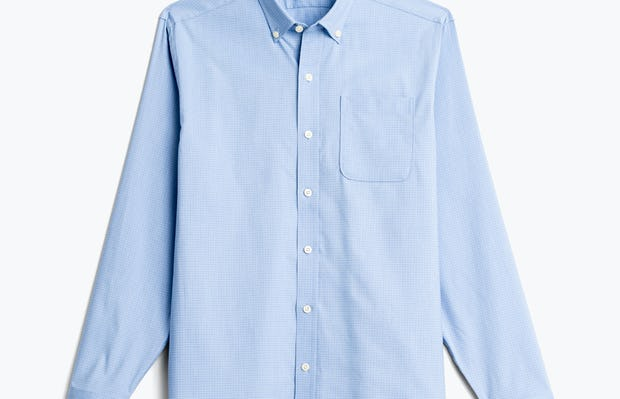 men's chambray mini grid aero button down flat shot of front