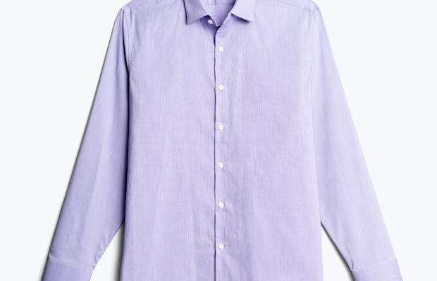 men's lavender end on end aero dress shirt flat shot of front