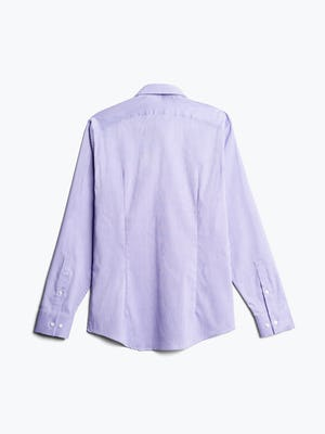 men's lavender end on end aero dress shirt flat shot of back