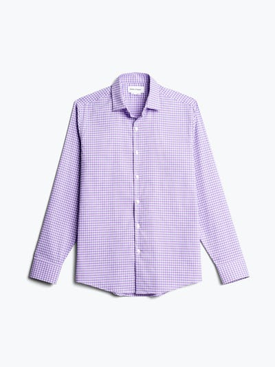 men's lavender quad grid aero dress shirt flat shot of front