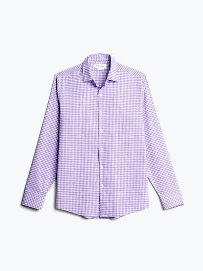 men's lavender quad grid aero dress shirt flat shot of front