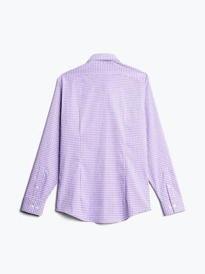 men's lavender quad grid aero dress shirt flat shot of back