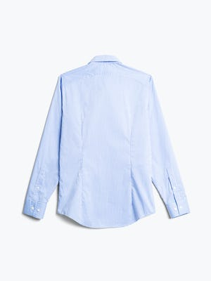 men's sky blue grid aero dress shirt flat shot of back