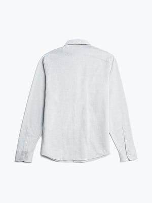 men's grey heather stripe hybrid button down flat shot of back