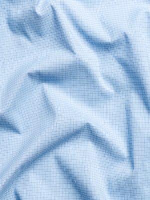 men's chambray mini grid aero button down wavy fabric