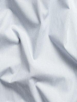 Men's grey heather houndstooth aero button down wavy fabric