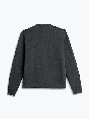 men's charcoal heather hybrid fleece crewneck sweatshirt flat shot of back