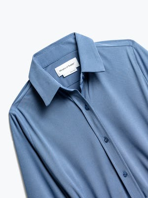 Close up of Womens Ocean Heather Apollo Tailored Shirt - Front