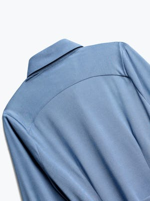 Close up of Womens Ocean Heather Apollo Tailored Shirt - Back