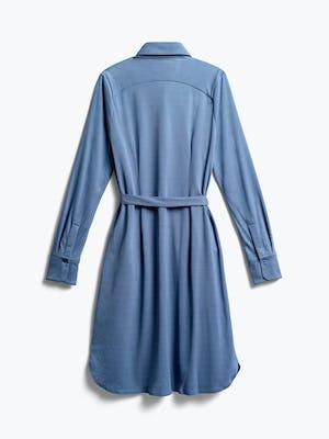 Womens Ocean Blue Apollo Shirt Dress - Back View