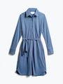 Womens Ocean Blue Apollo Shirt Dress - Front View
