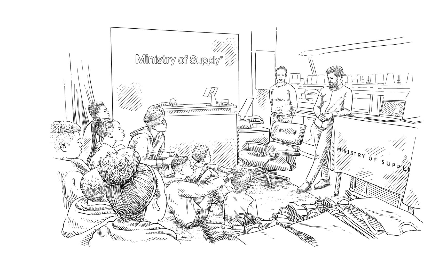 mlabs students at ministry of supply