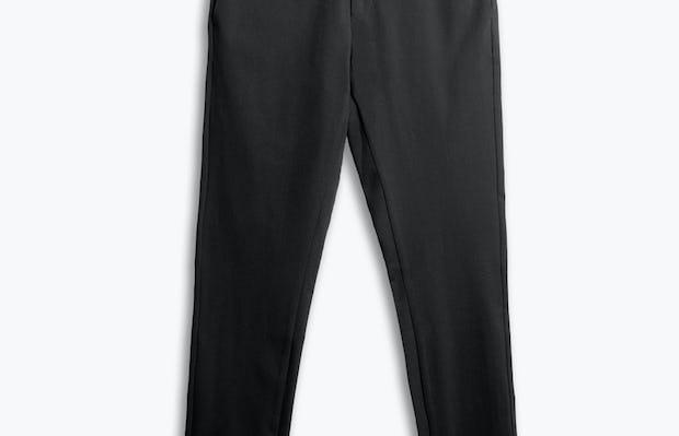 men's black kinetic sneaker cut pant flat shot of front