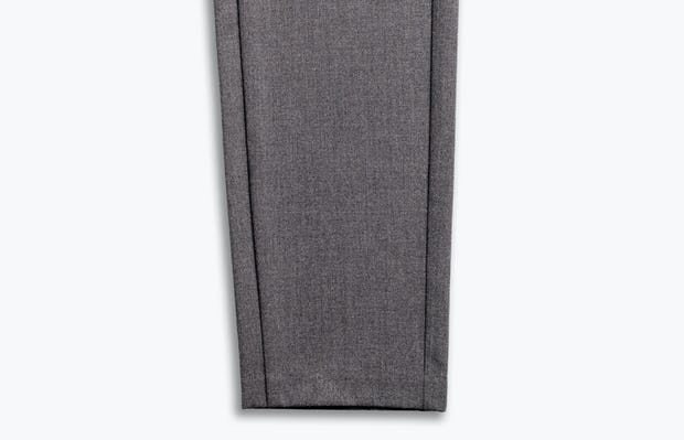men's graphite velocity sneaker cut pant zoomed shot of tapered leg