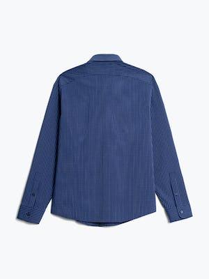 men's indigo jaspe grid aero button down flat shot of back